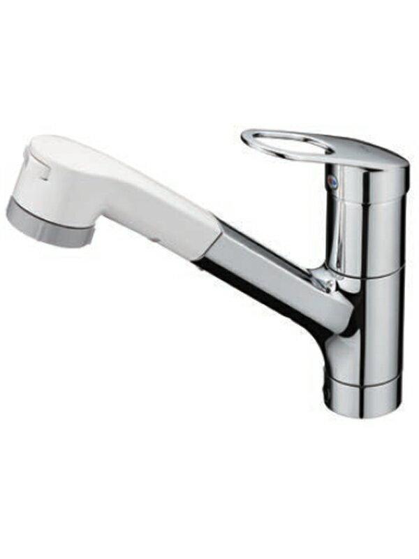 【TOTO】トートー『台付シングル混合水栓』TKGG32EB1R GGシリーズ 1穴 エコシングル ハンドシャワー キッチン水栓【中古】