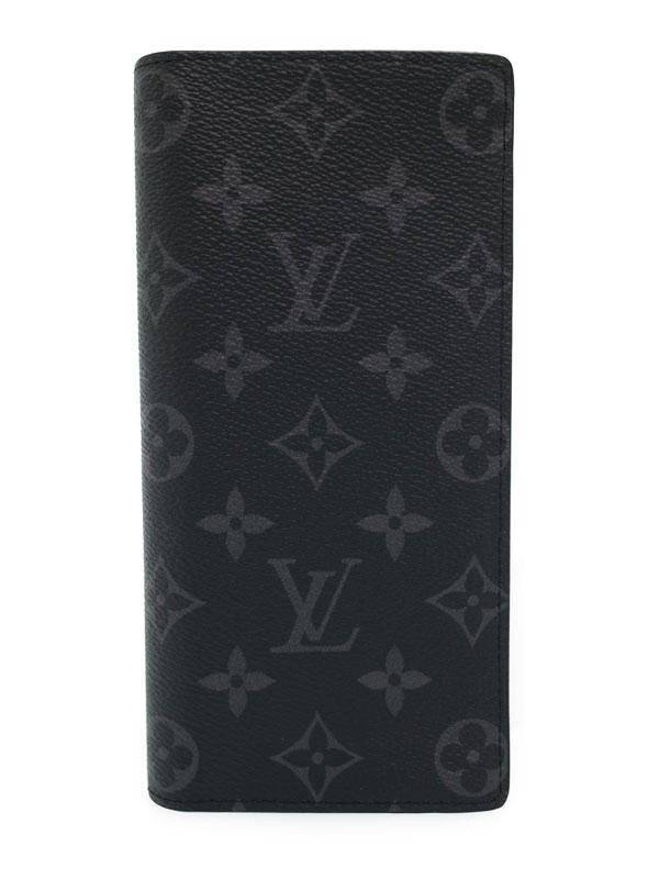 【LOUIS VUITTON】ルイヴィトン『モノグラム エクリプス ポルトフォイユ ブラザ』M61697 メンズ 二つ折り長財布 1週間保証【中古】