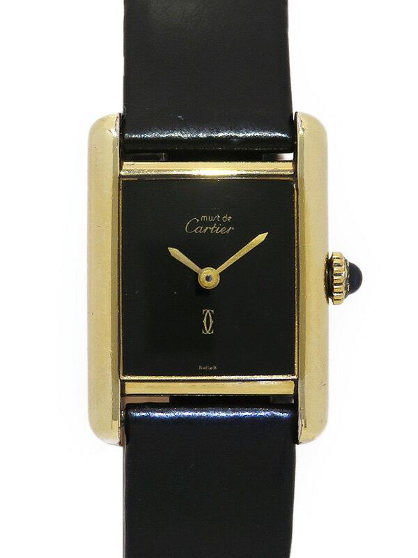 【CARTIER】カルティエ『マストタンク ヴェルメイユ』レディース 手巻き 1週間保証【中古】
