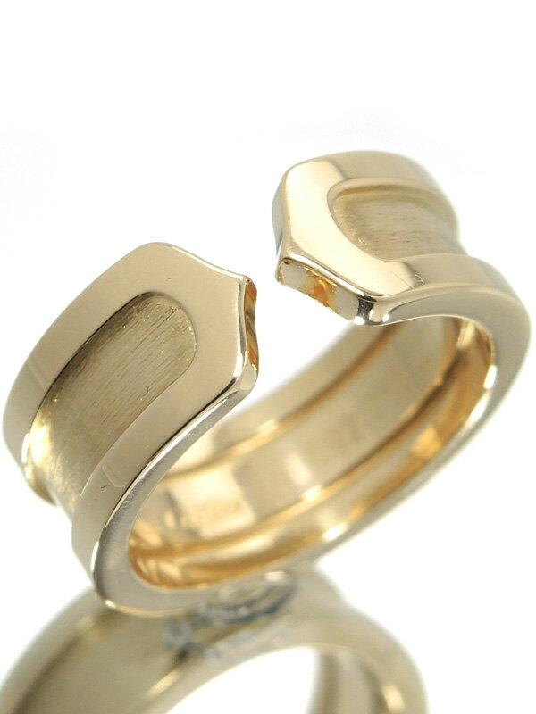 【Cartier】【仕上済】カルティエ『ロゴ ドゥーブルC C2リング』7号 1週間保証【中古】