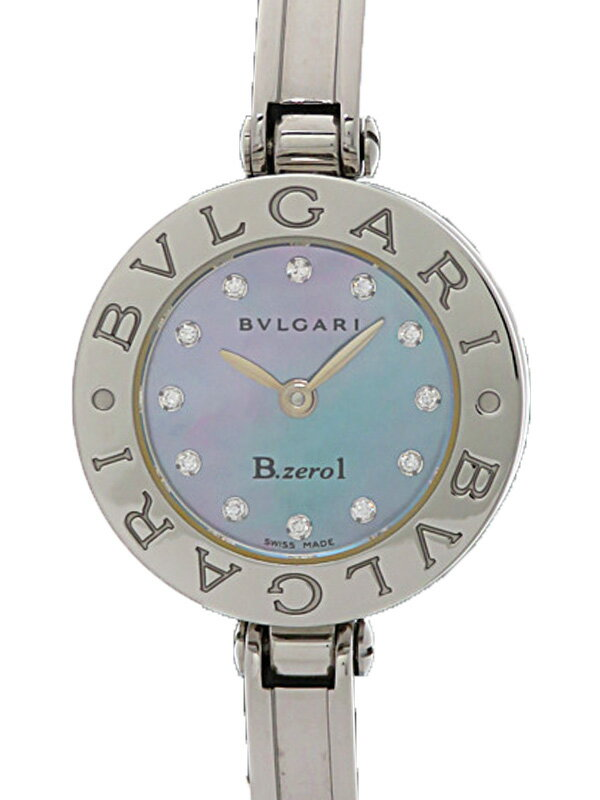 【BVLGARI】【電池交換済】ブルガリ『B-zero1 ビーゼロワン 12Pダイヤ』BZ22S レディース クォーツ 1ヶ月保証【中古】