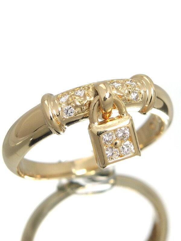 【TASAKI】【仕上済】タサキ『K18YGリング ダイヤモンド0.11ct カデナモチーフ』10号 1週間保証【中古】