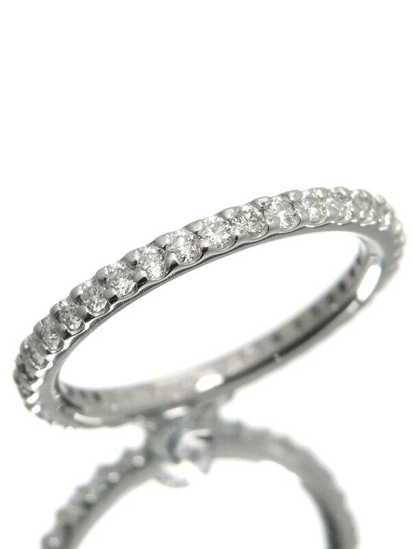 【StarJewelry】【仕上済】スタージュエリー『PT950リング ダイヤモンド0.50ct フルエタニティ』8号 1週間保証【中古】