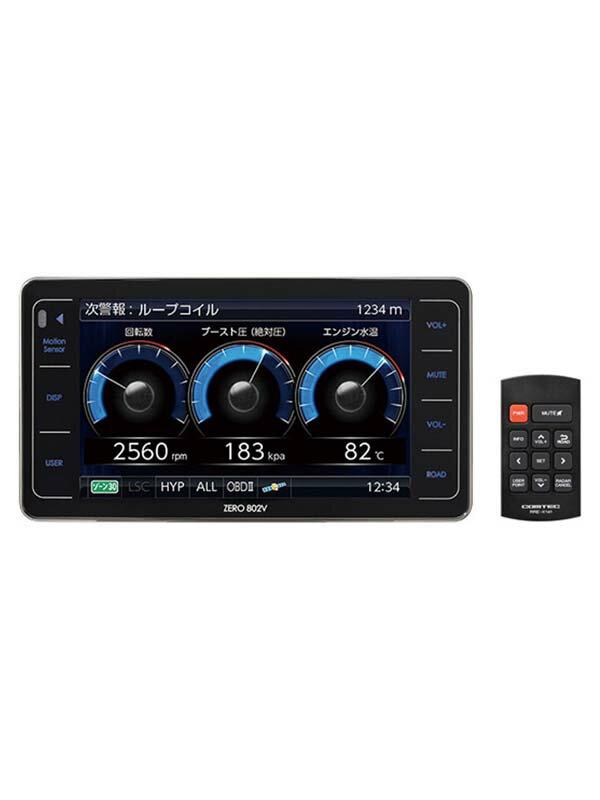 コムテック『ZERO802V』4.0型液晶 Gジャイロ ゾーン30 グロナス ワンボディ GPSレーダー探知機【新品】