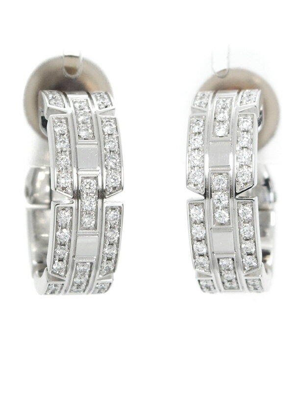 【Cartier】【クリップ式】カルティエ『タンクフランセーズ イヤリング ダイヤ』1週間保証【中古】