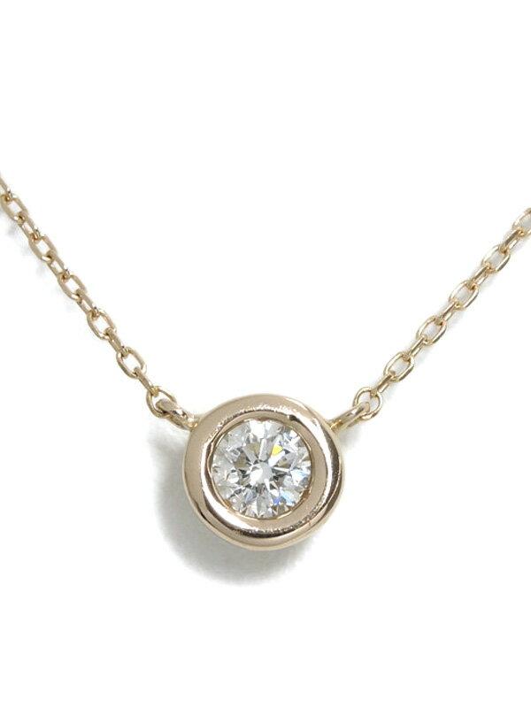 【WISP】ウィスプ『K18PGネックレス 1Pダイヤモンド0.202ct』1週間保証【中古】