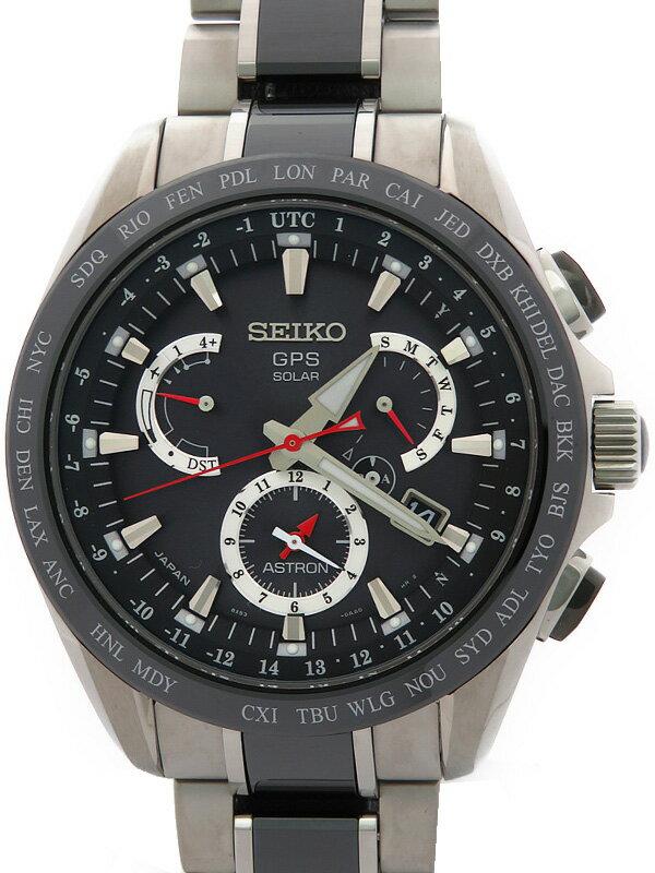 【SEIKO】【美品】セイコー『アストロン』SBXB041 6O****番 メンズ ソーラーGPS 1ヶ月保証【中古】