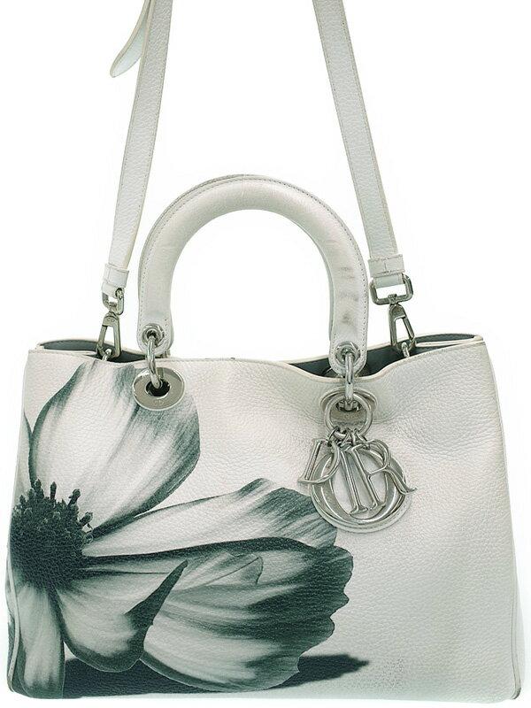 【Christian Dior】【ポーチ付】クリスチャンディオール『ディオリッシモ (L)』M0902PCF13 レディース 2WAYバッグ 1週間保証【中古】