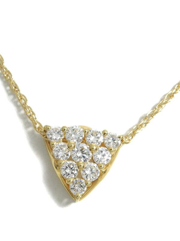 セレクトジュエリー『K18YGネックレス ダイヤモンド1.00ct』1週間保証【中古】