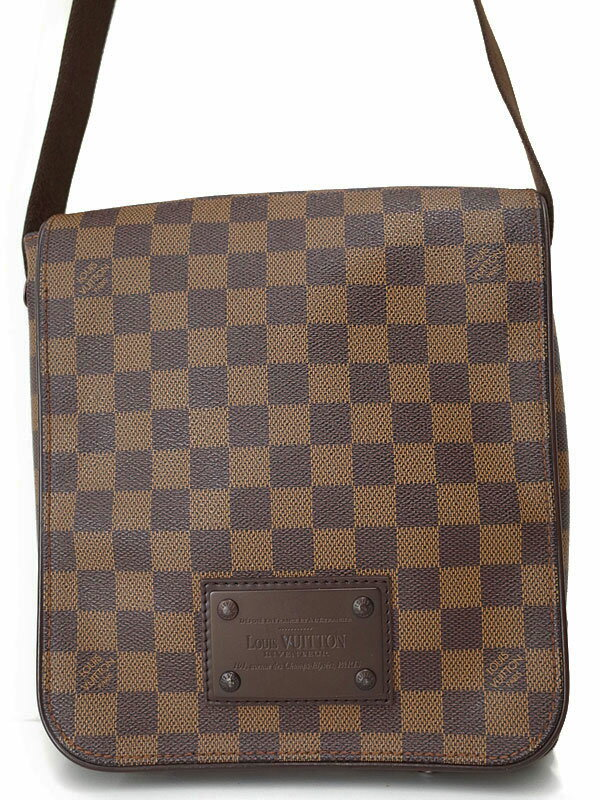 【LOUIS VUITTON】ルイヴィトン『ダミエ ブルックリンPM』N51210 メンズ ショルダーバッグ 1週間保証【中古】
