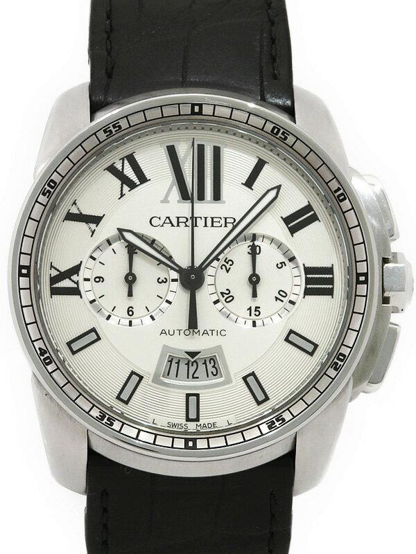 【Cartier】【裏スケ】【'14年メーカーコンプリートサービス済】カルティエ『カリブル ドゥ カルティエ』W7100046 メンズ 自動巻き 6ヶ月保証【中古】