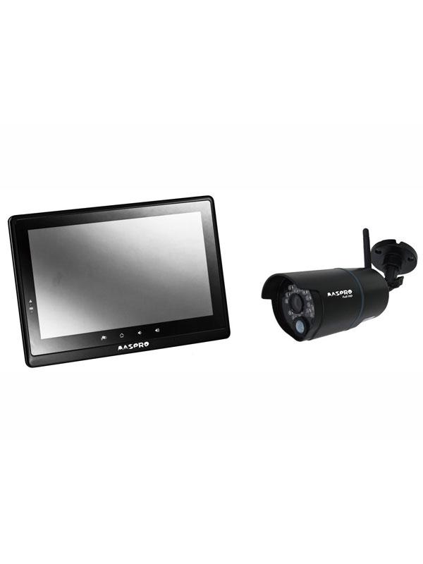 マスプロ『モニター&ワイヤレスフルHDカメラセット』WHC10M2 赤外線夜間撮影対応 セキュリティ機器 1週間保証【新品】