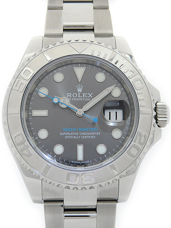 【ROLEX】【'16年購入】ロレックス『ヨットマスターロレジウム』116622 ランダム番 メンズ 自動巻き 12ヶ月保証【中古】