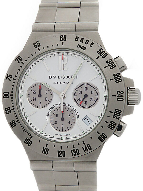 【BVLGARI】ブルガリ『ディアゴノ タキメトリック クロノグラフ』CH40STA メンズ 自動巻き 3ヶ月保証【中古】