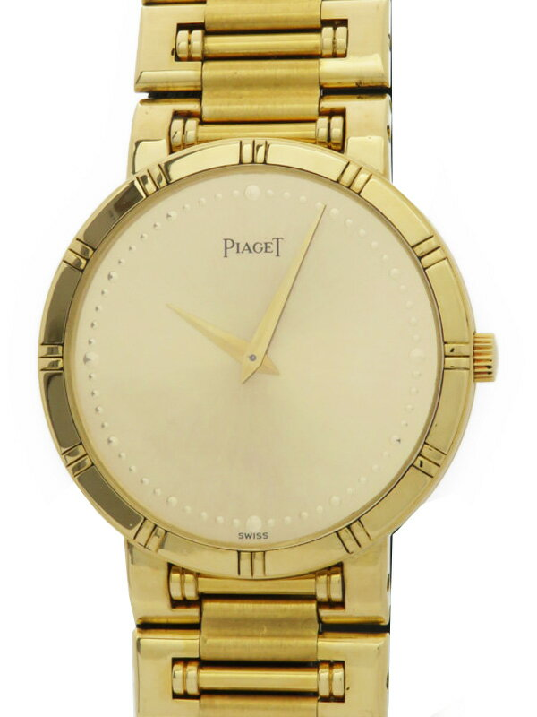 【PIAGET】【YG】【内部点検済】 ピアジェ『ダンサー』メンズ 手巻き 3ヶ月保証【中古】