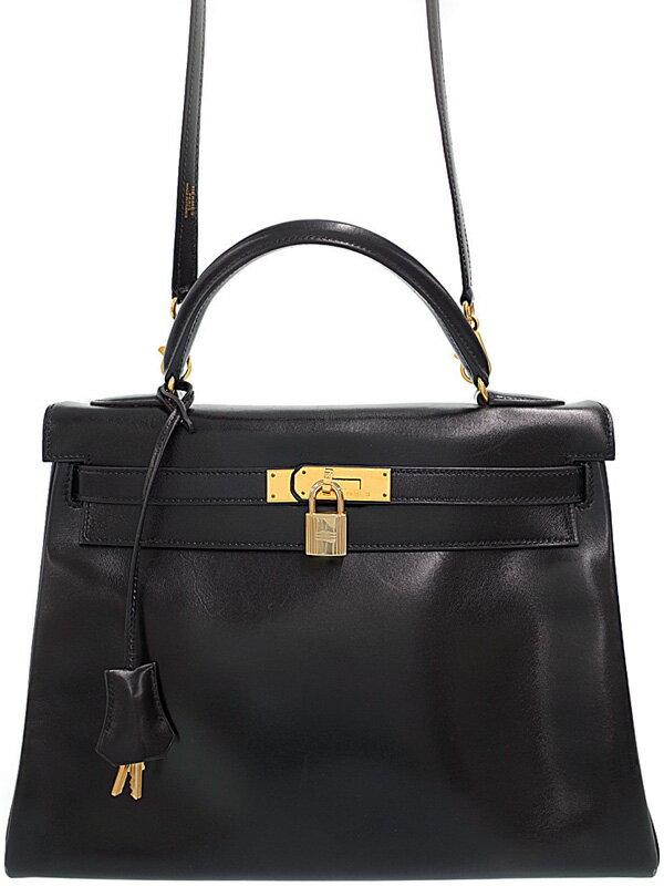 【HERMES】【ゴールド金具】エルメス『ケリー32 内縫い』B刻印 1998年製 レディース 2WAYバッグ 1週間保証【中古】
