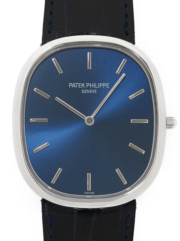 【PATEK PHILIPPE】【Ptケース】パテックフィリップ『ゴールデンエリプス』5738P-001 メンズ 自動巻き 6ヶ月保証【中古】