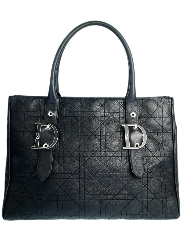 【Christian Dior】クリスチャンディオール『カナージュ トートバッグ』レディース 1週間保証【中古】