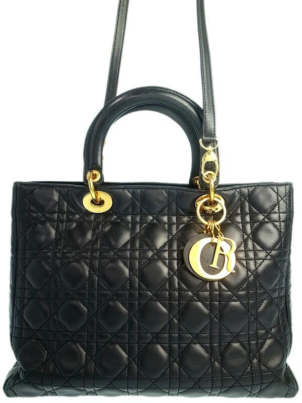 【Christian Dior】【カナージュ】クリスチャンディオール『レディディオール』レディース 2WAYバッグ 1週間保証【中古】