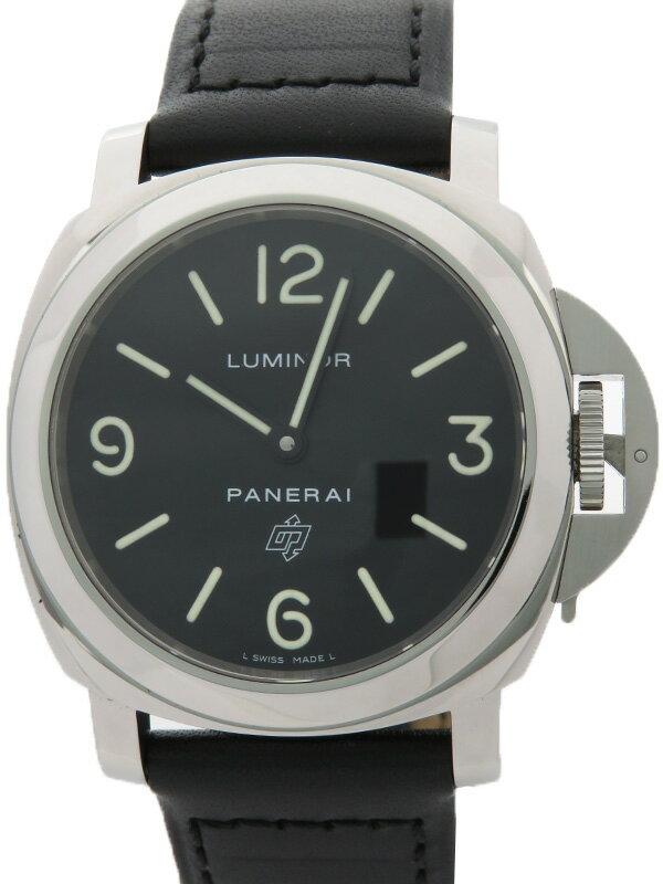 【PANERAI】パネライ『ルミノールベース ロゴ 44mm』PAM00000 L番'09年製 メンズ 手巻き 3ヶ月保証【中古】
