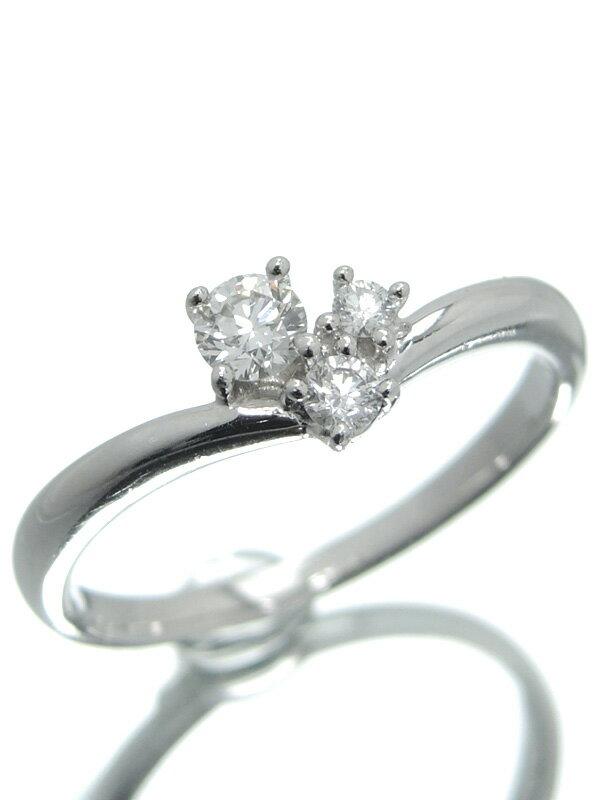【TASAKI】【仕上済】タサキ『K18WGリング ダイヤモンド0.19ct』11号 1週間保証【中古】
