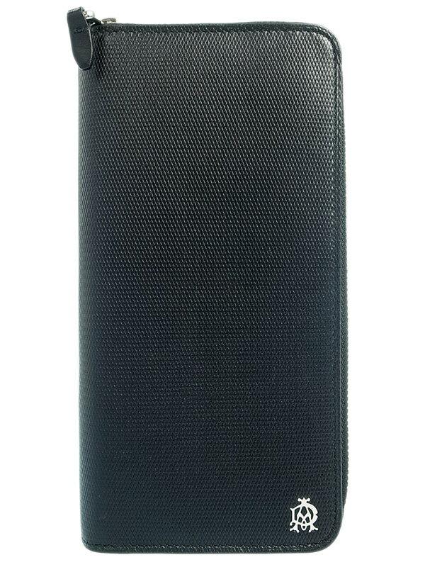 【Dunhill】ダンヒル『エンジンターン ラウンドファスナー長財布』L2AE18A メンズ 1週間保証【中古】