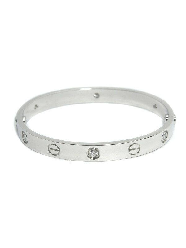 【Cartier】【メーカー仕上済】カルティエ『ラブブレス ハーフダイヤモンド』ブレスレット 1週間保証【中古】