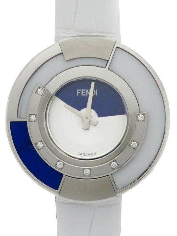 【FENDI】【'17年購入】【電池交換済】フェンディ『ポリクロミア』FOR446SZTF07S9 レディース クォーツ 3ヶ月保証【中古】