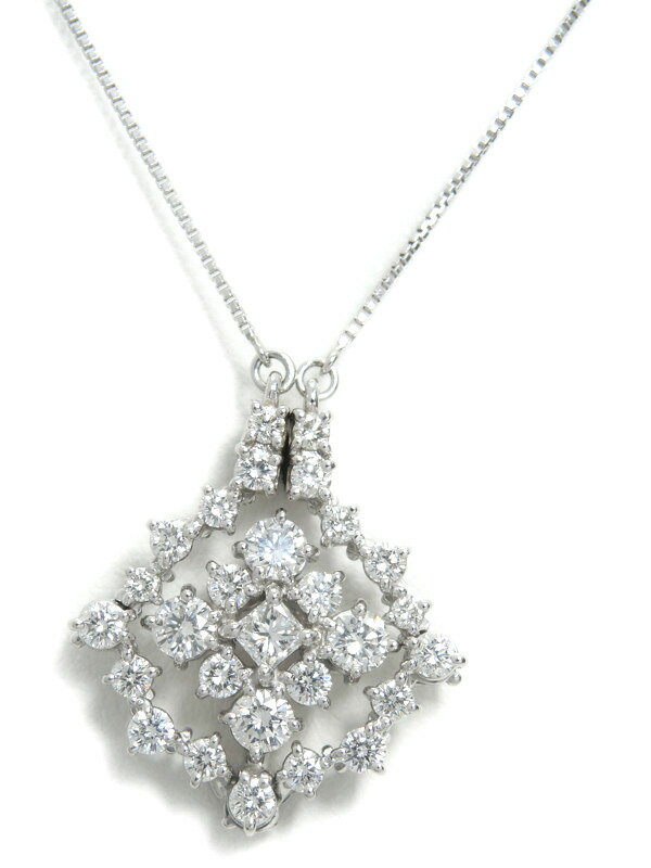 【TASAKI】【2Way】タサキ『PT900/PT850ネックレス ダイヤモンド1.58ct』1週間保証【中古】