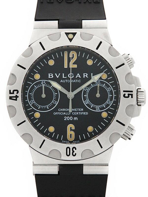 【BVLGARI】ブルガリ『ディアゴノ スクーバ クロノグラフ』SC38S メンズ 自動巻き 1ヶ月保証【中古】