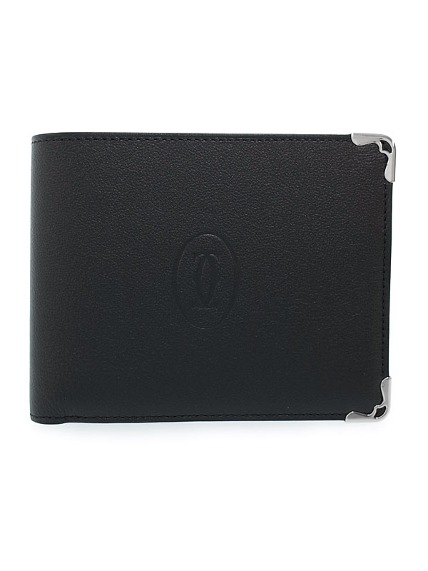 【Cartier】カルティエ『マスト ドゥ カルティエ 二つ折り短財布』L3001369 メンズ 1週間保証【中古】