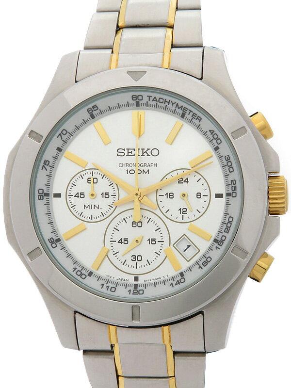 【SEIKO】【海外モデル】セイコー『クロノグラフ』SSB107P1 5O****番 メンズ クォーツ 1週間保証【中古】