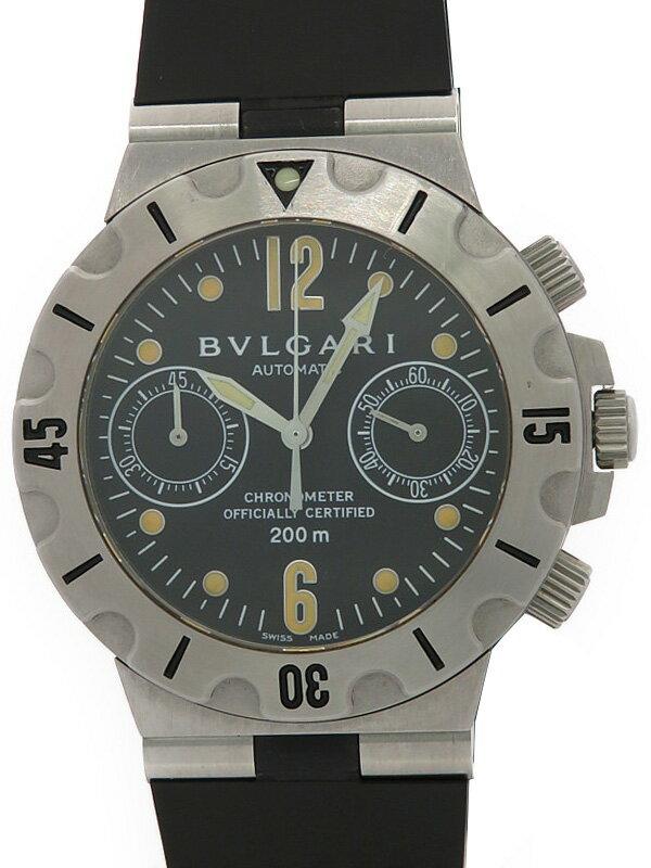 【BVLGARI】ブルガリ『ディアゴノ スクーバ クロノグラフ』SCB38S メンズ 自動巻き 3ヶ月保証【中古】