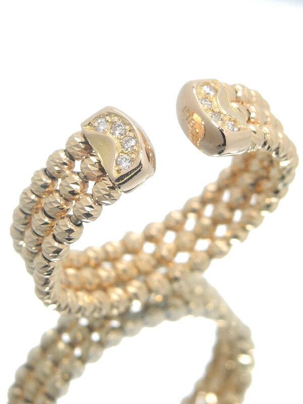 【仕上済】セレクトジュエリー『K18PGリング ダイヤモンド0.05ct』12号相当 1週間保証【中古】