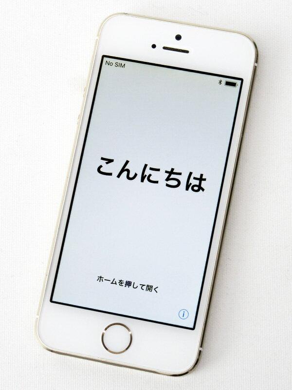 アップル『iPhone 5s 32GB au』ME337J/A ゴールド iOS11.0.3 4型Retina ○判定 スマートフォン【中古】