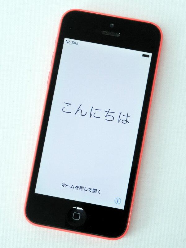 【Apple】アップル『iPhone 5c 16GB au』ME545J/A ピンク iOS10.3.3 4型 白ロム ○判定 スマートフォン【中古】