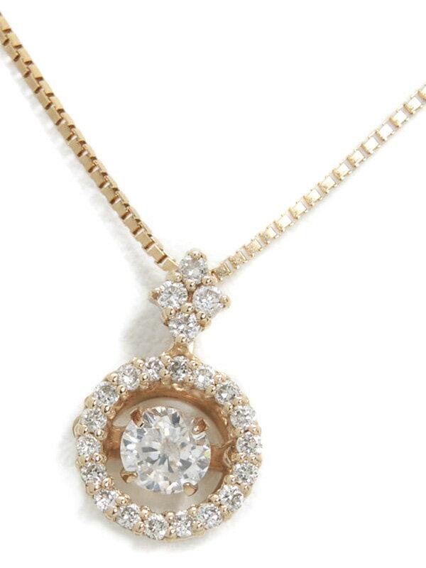 セレクトジュエリー『K18PGネックレス ダイヤモンド0.20ct 0.13ct』1週間保証【中古】
