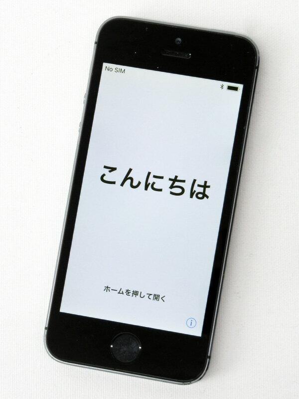 アップル『iPhone 5s 32GB docomo』NE335J/A スペースグレイ 4型Retina ○判定 スマートフォン【中古】