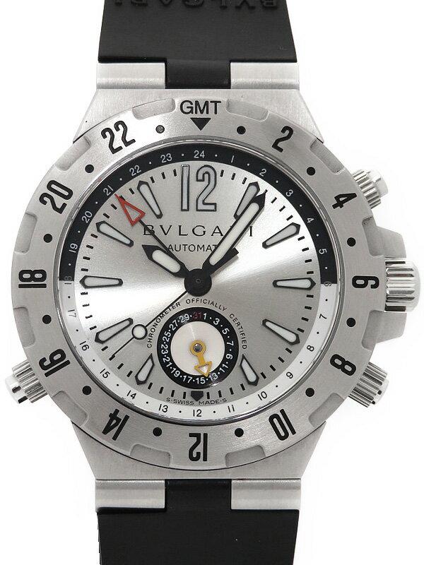【BVLGARI】ブルガリ『ディアゴノ プロフェッショナル GMT』GMT40S メンズ 自動巻き 3ヶ月保証【中古】
