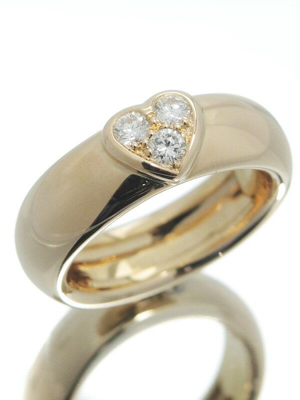 【TIFFANY&Co.】【仕上済】ティファニー『K18PGリング ダイヤモンド ハートモチーフ』12号 1週間保証【中古】