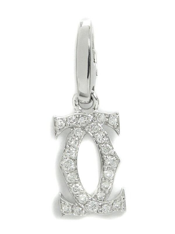 【Cartier】【仕上済】カルティエ『K18WGチャーム 2Cモチーフ ダイヤ』ペンダントトップ 1週間保証【中古】