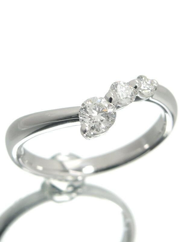 【TASAKI】【仕上済】タサキ『K18WGリング ダイヤモンド0.37ct』10.5号 1週間保証【中古】