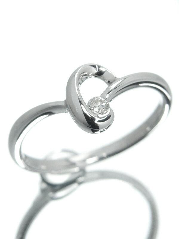 【仕上済】セレクトジュエリー『K18WGリング ダイヤモンド0.05ct』12号 1週間保証【中古】