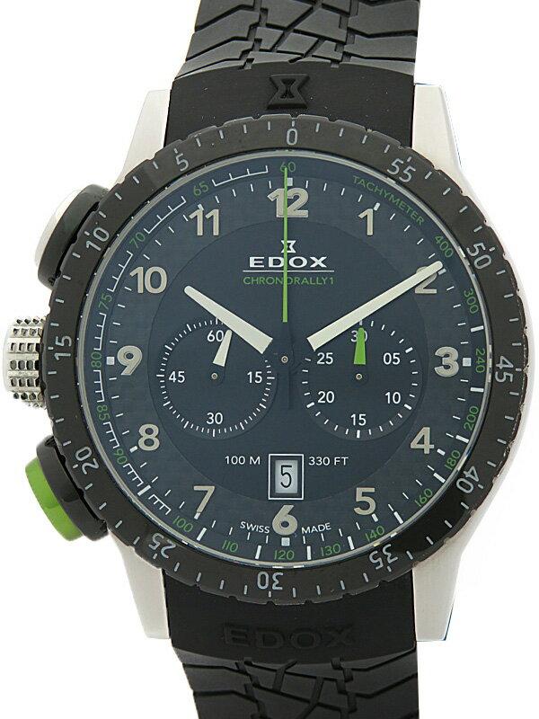 【EDOX】エドックス『クロノラリー1』10305-3NN-NV メンズ クォーツ 1ヶ月保証【中古】
