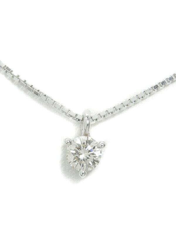 【TASAKI】タサキ『K18WGネックレス 1Pダイヤモンド0.15ct』1週間保証【中古】