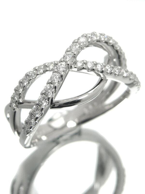 【TASAKI】【仕上済】タサキ『K18WGリング ダイヤモンド0.47ct』12.5号 1週間保証【中古】
