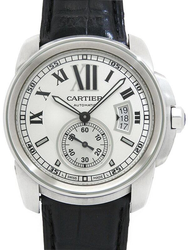 【Cartier】【裏スケ】カルティエ『カリブル ドゥ カルティエ』W7100037 メンズ 自動巻き 6ヶ月保証【中古】