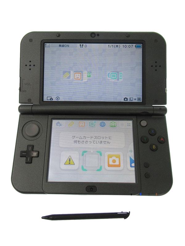 任天堂『Newニンテンドー3DSLL』RED-S-VAAA(JPN) メタリックブラック 3Dブレ防止 ゲーム機本体【中古】