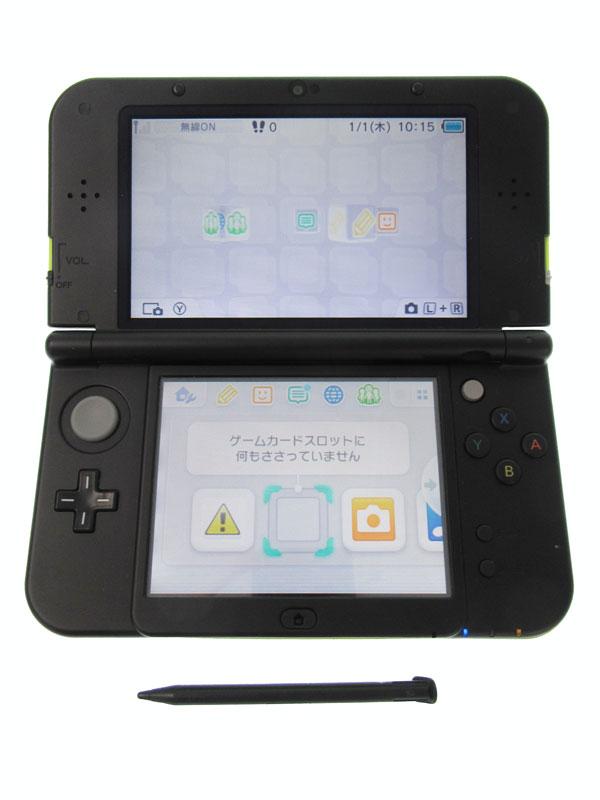 【Nintendo】任天堂『Newニンテンドー3DSLL』RED-S-MAAA(JPN) ライム×ブラック 3Dブレ防止機能 ゲーム機本体【中古】