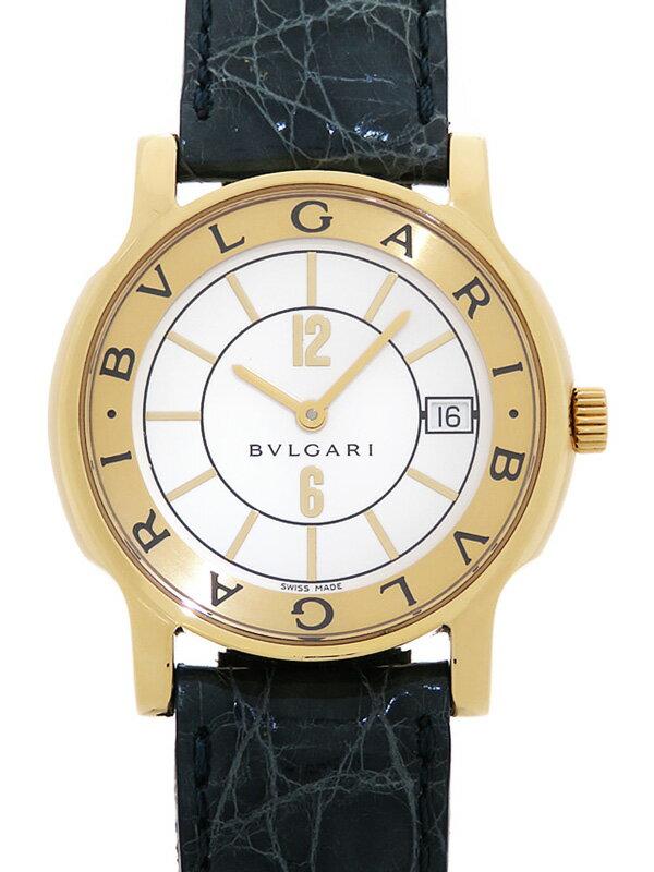 【BVLGARI】【YGケース】【電池交換済】ブルガリ『ソロテンポ』ST35G メンズ クォーツ 1ヶ月保証【中古】